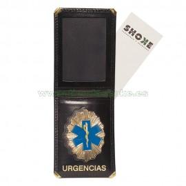Portacarnet con placa Urgencias y billetera