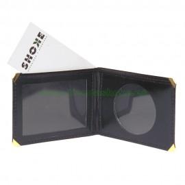 Portacarnet para placa redonda con billetera
