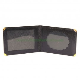 Portacarnet para placa ovalada sin billetera