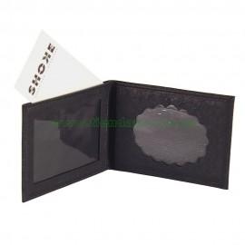 Portacarnet para placa ovalada con billetera
