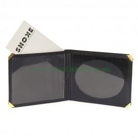 Portacarnet para placa ovalada lisa con billetera