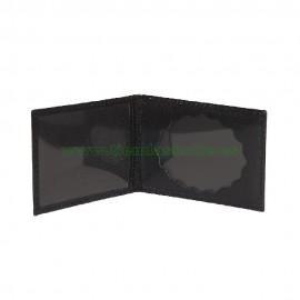 Portacarnet pequeño modelo europeo para placa ovalada