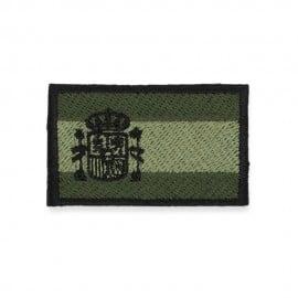 Parche brazo bandera de España verde
