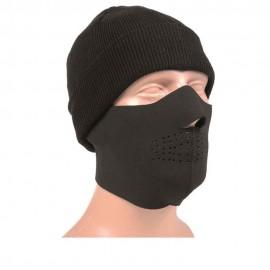 Máscara protectora facial de neopreno negra
