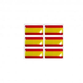 Pegatinas bandera de España 6uds