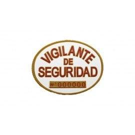Placa homologada Vigilante de Seguridad PVC