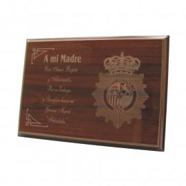 Placa conmemorativa CNP grabado a láser (210 x 165mm)