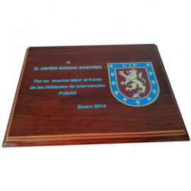 Placa conmemorativa UIP impresa a color (210 x 165mm)
