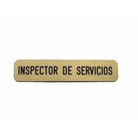 Emblema metálico Inspector de Servicios
