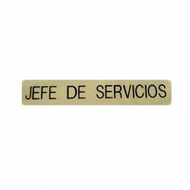 Emblema metálico Jefe de Servicios