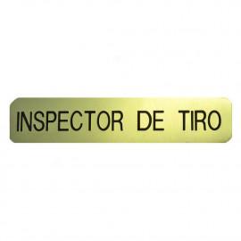 Emblema metálico inspector de tiro