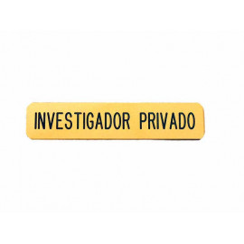 Emblema Investigador Privado