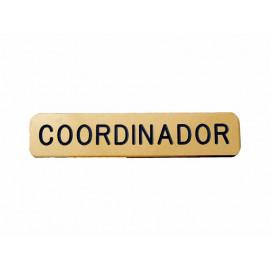 Emblema metálico Coordinador
