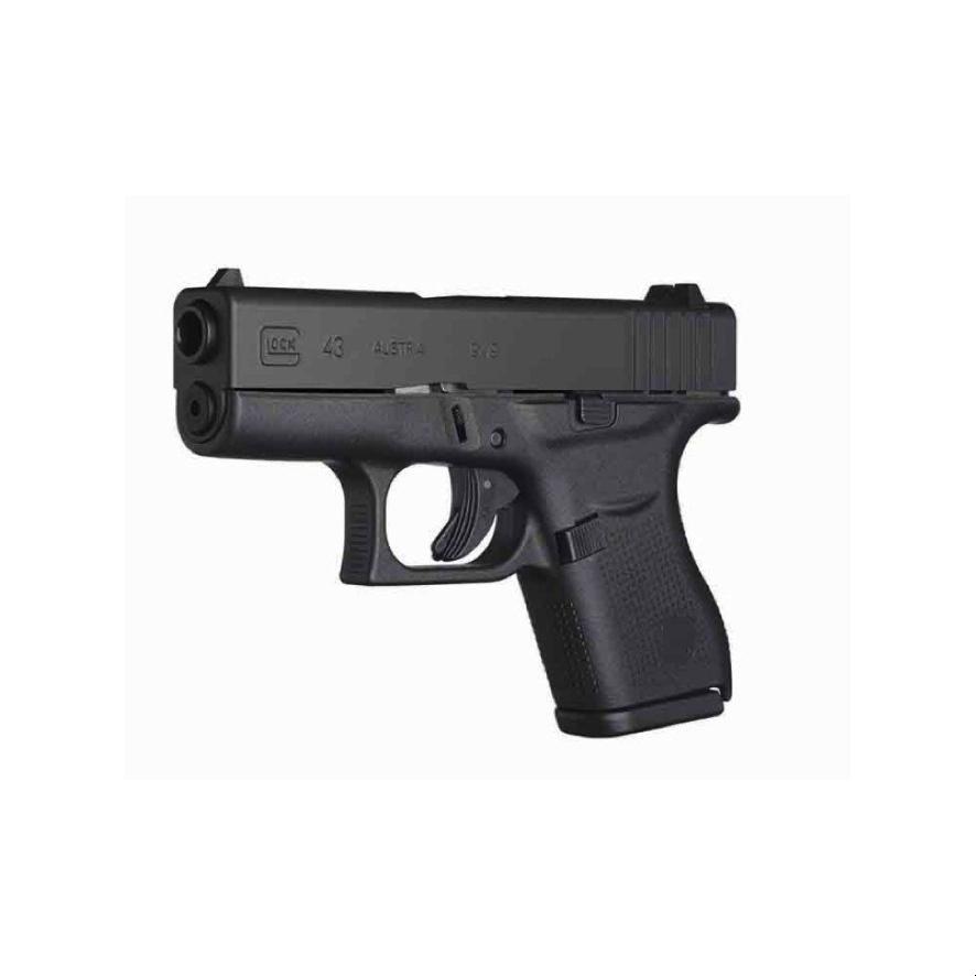 Pistola Glock 43 de 9mm es un arma que puede ser portada de manera oculta y segura en misiones de incógnito además de ofrecer una puntería exacta en el objetivo