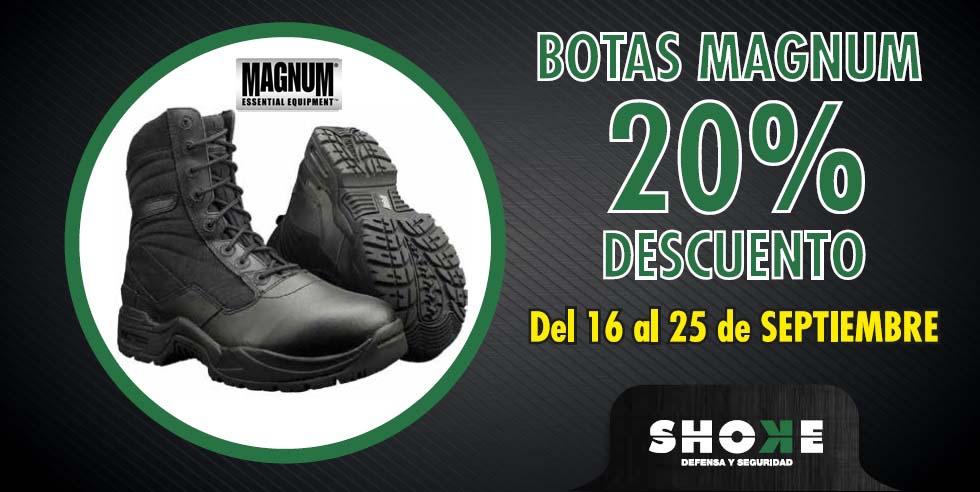 ¡Botas Tácticas Magnum con un 20% de descuento!