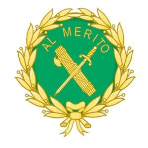 Imagen de la medalla al mérito de la guardia civil