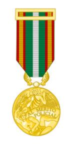 Medalla del Orden al Mérito Policial una de las concecoraciones de seguridad más importantes