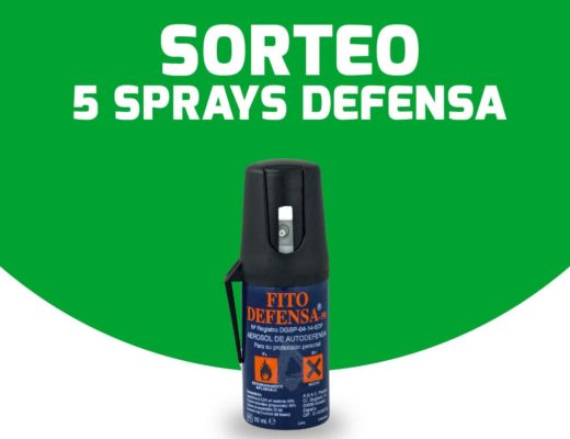 Sorteo de 5 sprays de defensa personal antiviolador de Fito