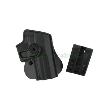 Funda antihurto rígida de color gris, una protección imprescindible para vuestro material policial