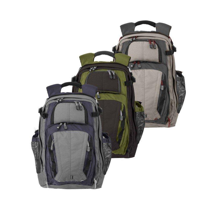 Mochila militar táctica 5.11 Covert 18 Backpack diseño deportivo, pequeño y manejable, cuenta con hombreras acolchadas y ventiladas. Disponible en tres colores: Azul, verde y gris