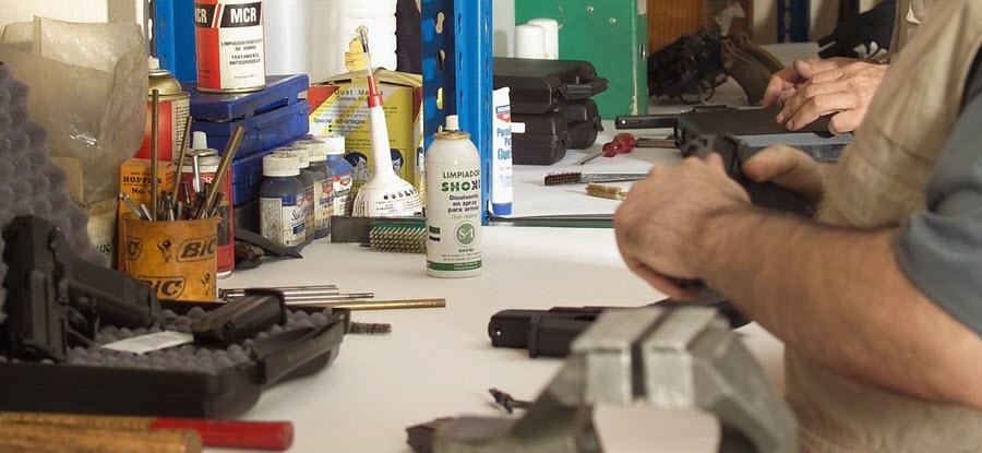 taller reparación armas Madrid Shoke